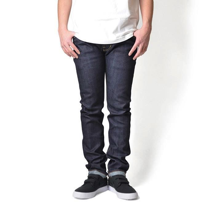 Lafayette 5 Pocket  Selvage Stretch Denim Pants - Slim Fit Color: Indigo Raw