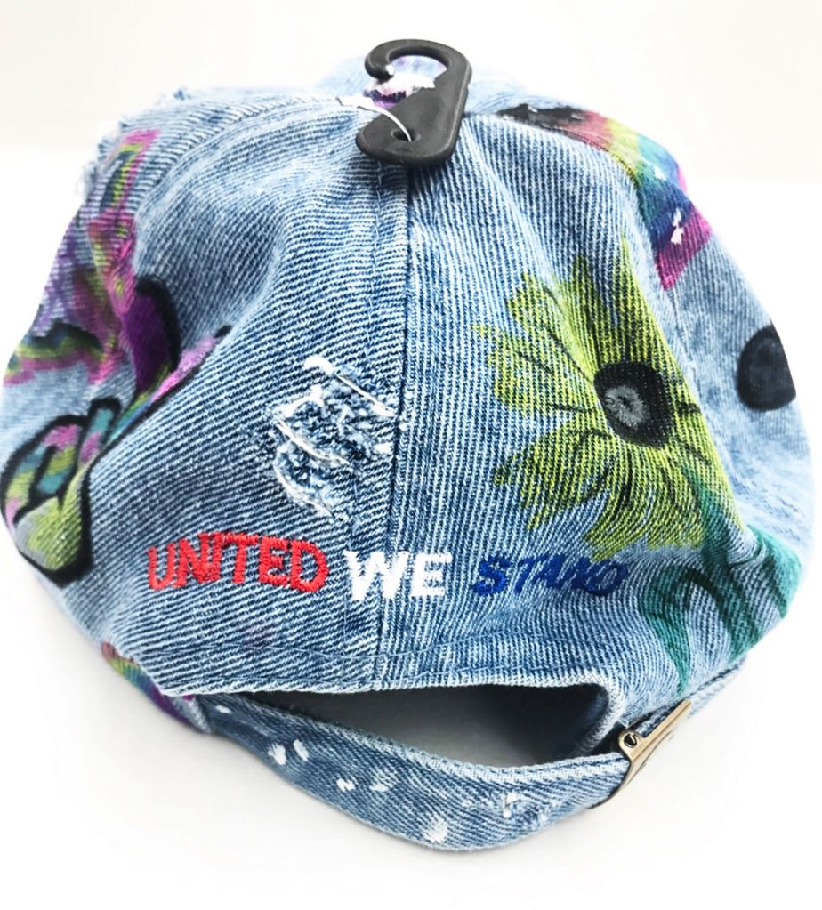 HVLM United We Stand Project USA custom denim dad cap