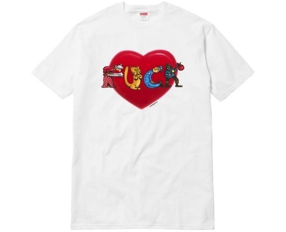 Supreme FUCK Love Tee ( white ) Size : Medium