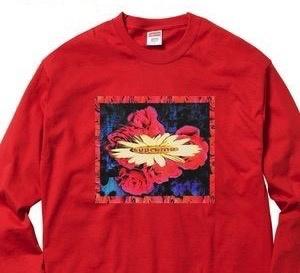 SUPREME Bloom Long Sleeve Shirt ( red )
