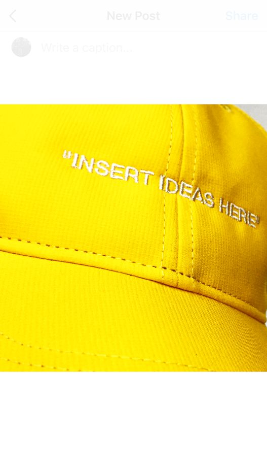 OFF-White/Nike (Y) Insert Idea Here Cap