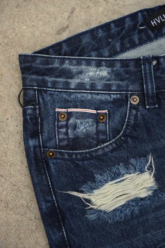 HVLM BACKSTAGE DENIM DISTRESSED BLUE