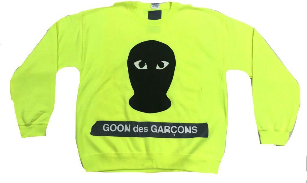 Goon des Garcons crewneck ( neon )