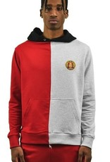 Alumnus Split Hoody Grey & Red