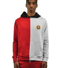 Alumnus Split Hoody Grey & Red