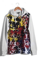 Alley Grunge Hoody Sweatshirt ( white )