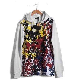 Alley Grunge Hoody Sweatshirt ( white )