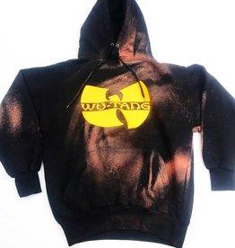 1 of 1 Hand-made Wu bleached hoody ( black )