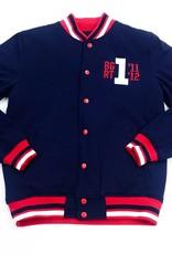 BGRT USA 1 Fleece Varsity Jacket ( navy/red )