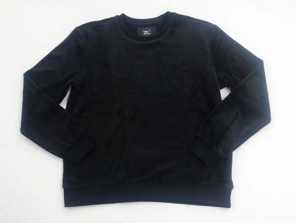 THC Paradise Velour crewneck ( black )