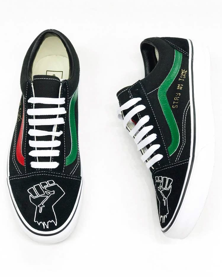 "HVLM HVLM BHM Custom Old Skool Vans "" Limited by number """
