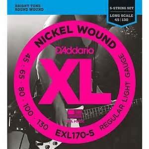 D'addario D'Addario EXL170-5 Lt 5string Bass