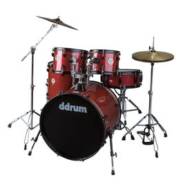 DDRUM 5PC Drum Set Red Pinstripe