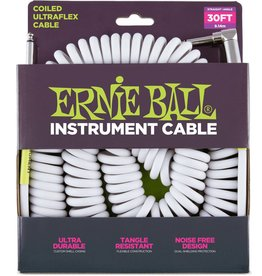 Ernie Ball Ernie Ball Coiled Instrument Cable 30' White