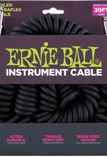 Ernie Ball Ernie Ball  Coiled Instrument Cable 30' Blk