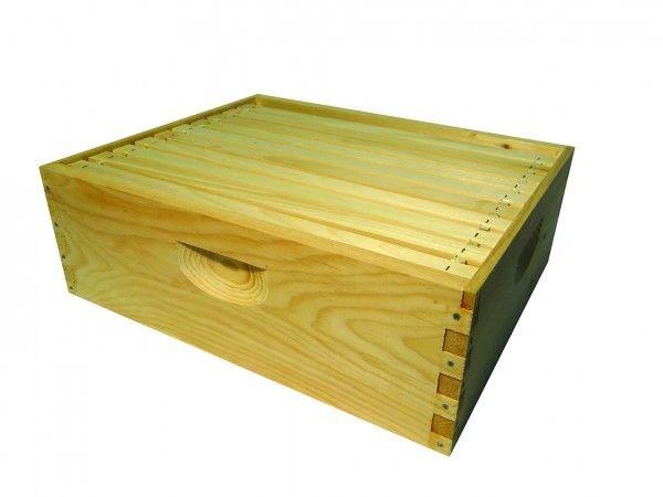 *Shallow Super, 8-Frame, Assembled w/ Frames & Wax Foundation, Complete