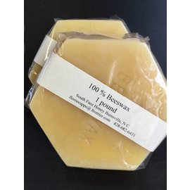 1lb Hexagon block Yellow Beeswax (South Face)