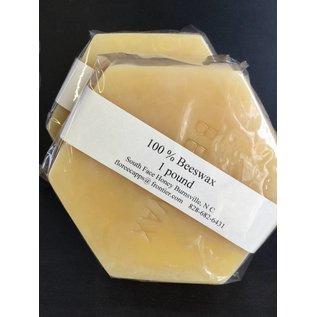 1lb Hexagon block Yellow Beeswax (South Face)