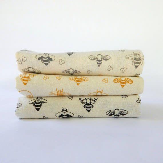 The High Fiber High Fiber Tea Towel with Bee Pattern