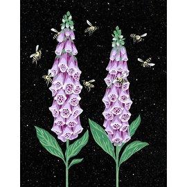 Foxglove Honeybee Card