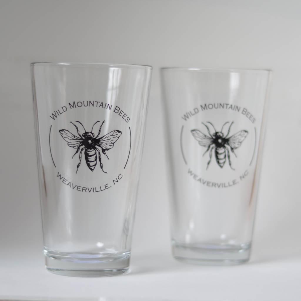 Pint Glass Wild Mountain Bees