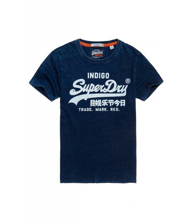 SUPERDRY Superdry - T-shirt Vintage Logo Indigo