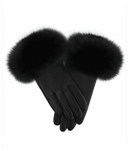 Mitchie's Matchings - Leather Mittens with Fur