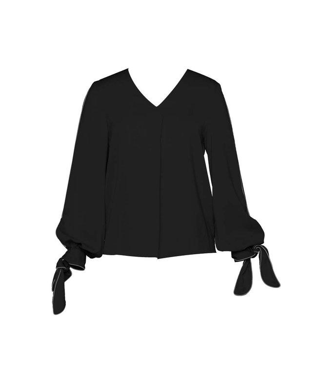 DS Lab - La blouse col V unie