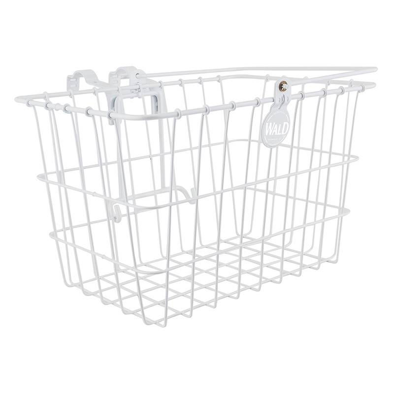 WALD Wald 3133 Front Quick Release Basket with Bolt-On Mount: White