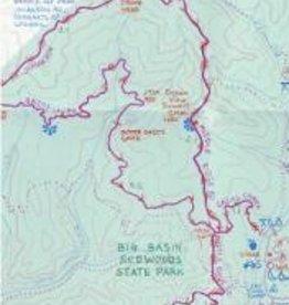 Map San Francisco to Santa Cruz Mtn Biking