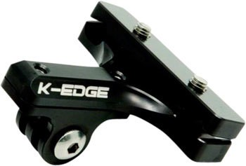 K-Edge K-Edge GO BIG GoPro and Garmin Camera Saddle Rail Mount, Black
