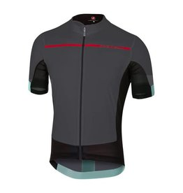 Castelli Forza Pro Jersey Anthracite/Red Large
