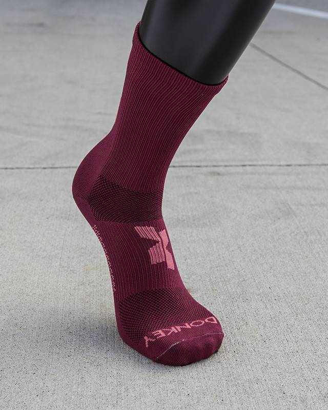 Donkey Label Donkey Label Cross X Magenta Socks