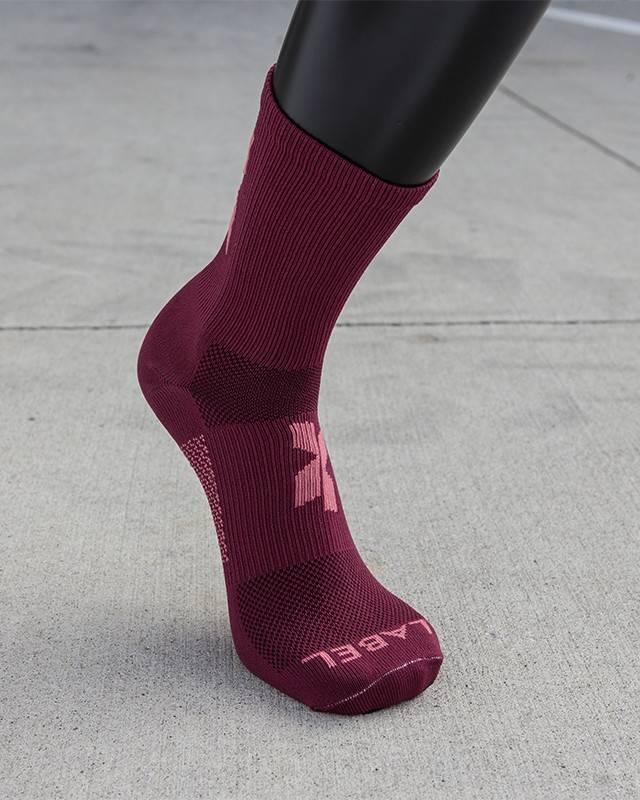 Donkey Label Donkey Label Cross X Magenta Socks