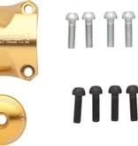 Thomson Stem Faceplate Dress Up Kit For X4: 31.8mm Gold