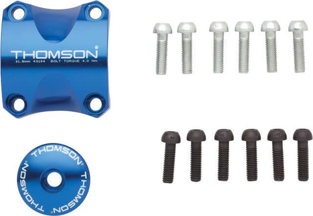 Thomson Stem Faceplate Dress Up Kit For X4: 31.8mm Blue