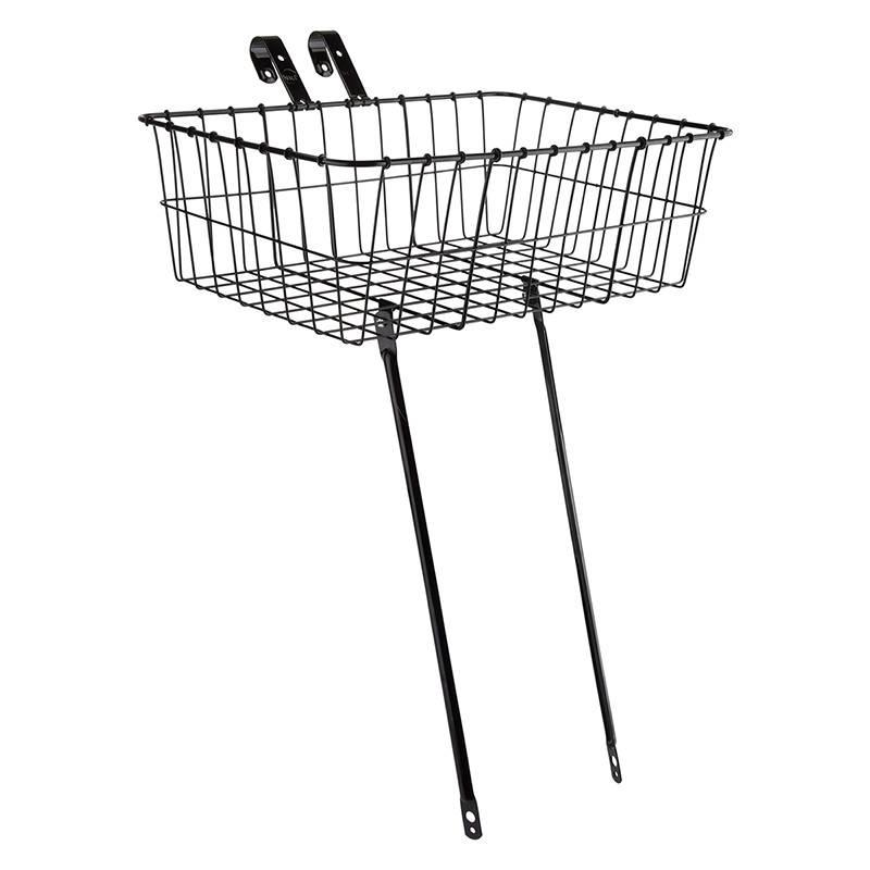 WALD Wald 1392 Front Basket Black Lg 18 x 13 x 6