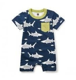 Tea Collection Tea Collection Shiver of Sharks Pocket Romper