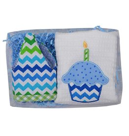 3 Marthas 3 Marthas Blue Birthday Set