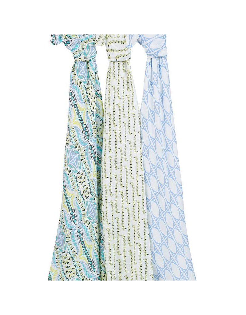 Aden and Anais Aden + Anais Silky Soft Swaddle 3 Pack