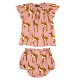Milkbarn LLC Milkbarn Peasant Dress & Bloomer Set