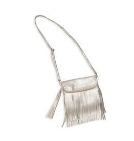 Bari Lynn Bari Lynn Long Fold Over Fringe Bag