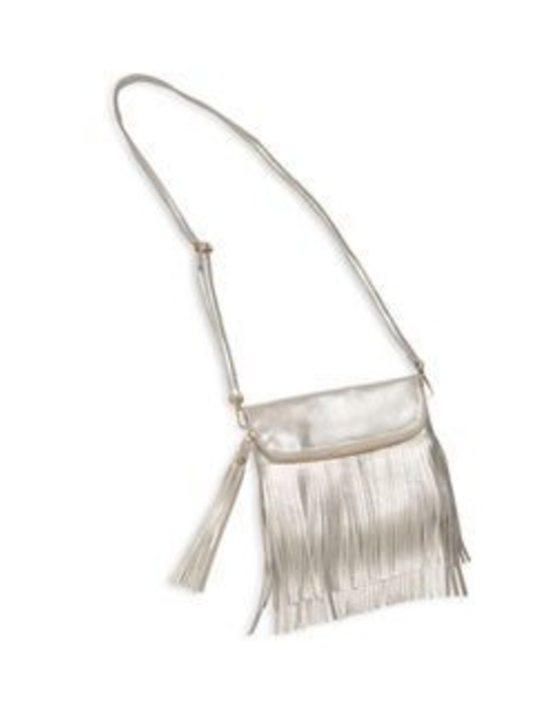 Bari Lynn Bari Lynn Long Fold Over Fringe Bag