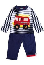 Lilly + Sid Lilly + Sid Applique/Cord Trouser Set