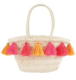 Mud Pie Mud Pie Tassel Beach Straw Tote