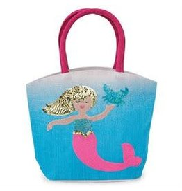 Mud Pie Mud Pie Mermaid Ombre Straw Tote