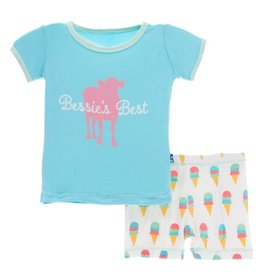 KicKee Pants KicKee Pants Short Sleeve w/Shorts Set
