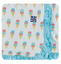 KicKee Pants KicKee Pants Print Ruffle Toddler Blanket