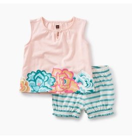 Tea Collection Tea Collection Floral Ruffle Bloomer Outfit