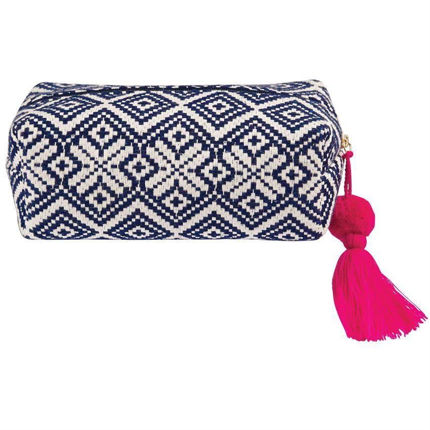 Mud Pie Mud Pie Woven Cosmetic Case